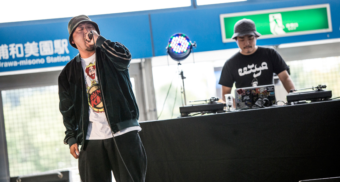 MC HIERO from MUSASABI(feat SEN-D. RAYKI a.k.a Daddy#18 DJ KENICHI)